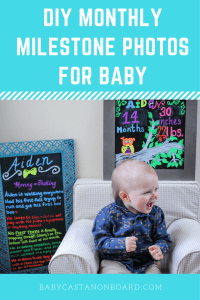 There are so many fun ways to document a baby's first year through monthly milestone photos. I thought I would share some of my favorites.