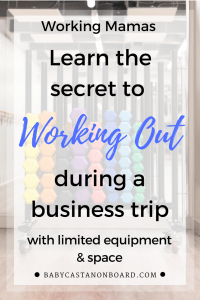 For a working mama on a business trip, using Pinterest for workout ideas is a great way to make it easy while you are on the road.