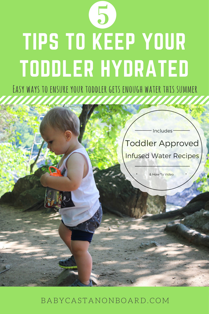 During the summer it is so important to keep your toddler hydrated. Use these tips to keep your toddler hydrated, plus toddler approved infused water recipes (plus step-by-step video).