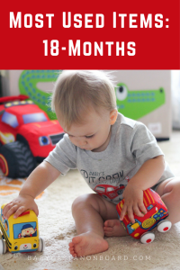 Here is an overview of all of our 18-month old's favorite things -- from the old things that he has always loved to lots of new things.