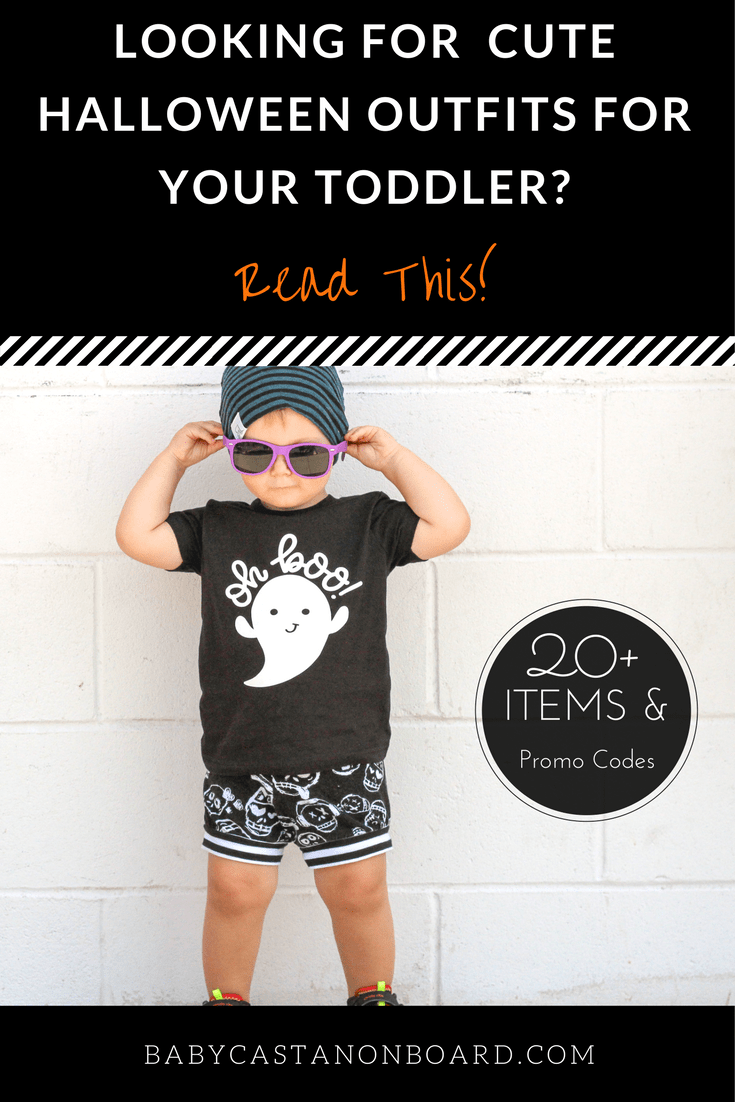 There are always really cute clothing options for babies and toddlers in the fall. Here is my list of the cutest toddler #Halloween outfits. Includes promo codes. #toddler #baby #fashion
