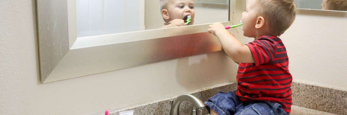 Our toddler has never liked us near his mouth so brushing teeth has been a problem -- until now. Here are tips for getting a toddler to brush his teeth.
