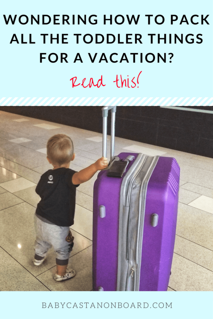 Packing a Toddler's Suitcase for Vacation pin