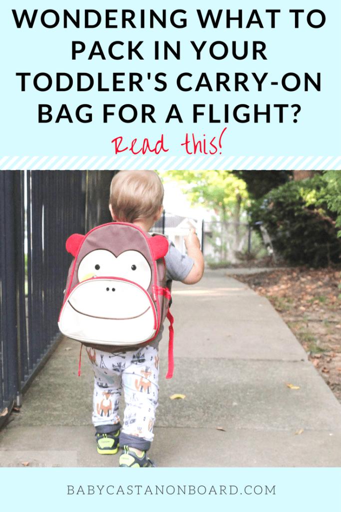 Toddler's Carry-on Bag Pin