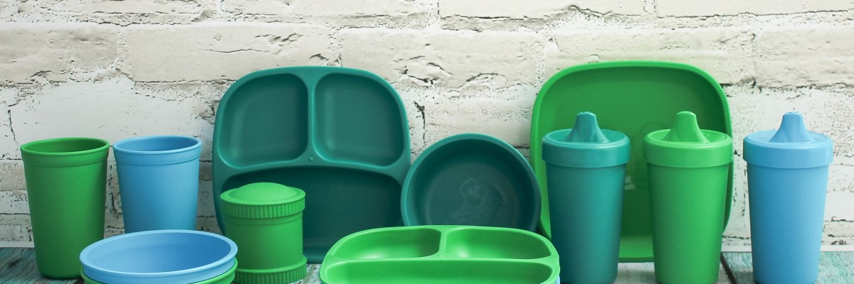 A review of Re-Play toddler tableware which comes in fun colors that you can mix and match. Re-Play tableware is both sustainable and affordable.