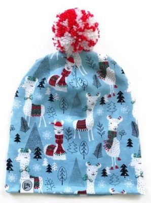 winter hats for babies and toddlers_logan M styles pom beanie llamas