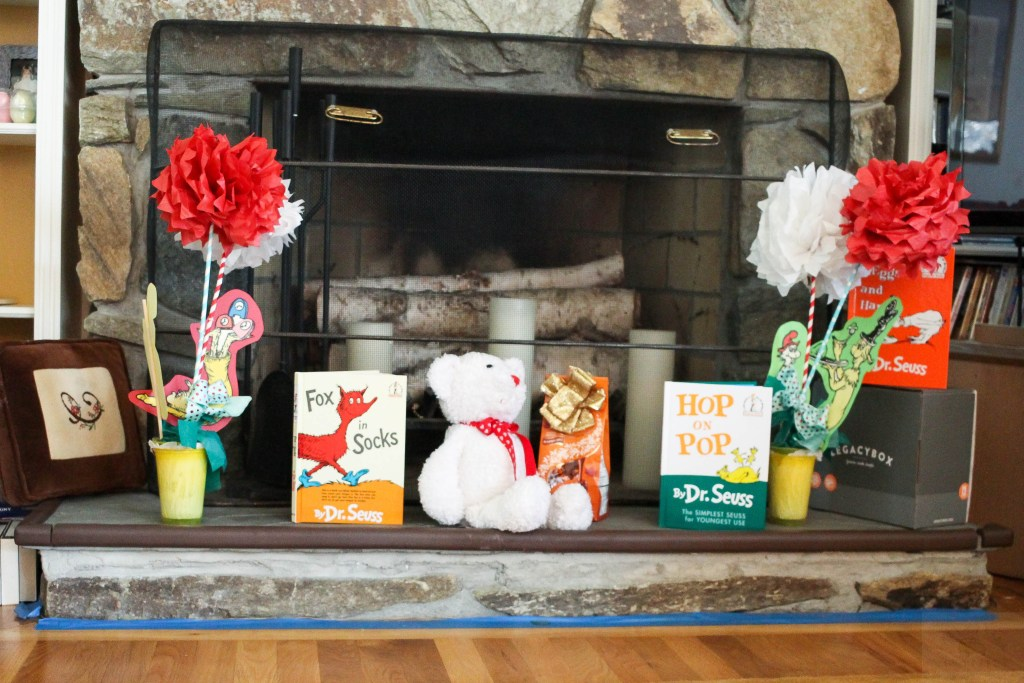 Dr. Seuss Themed Birthday Party-Dr.Seuss-inspired-decorated-hearth-DC-Motherhood Blog