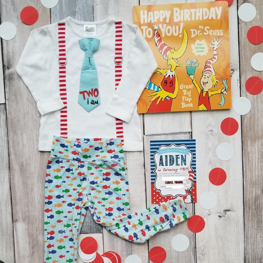 Dr. Seuss Themed Birthday Party-Seuss-Outfit and Invitation