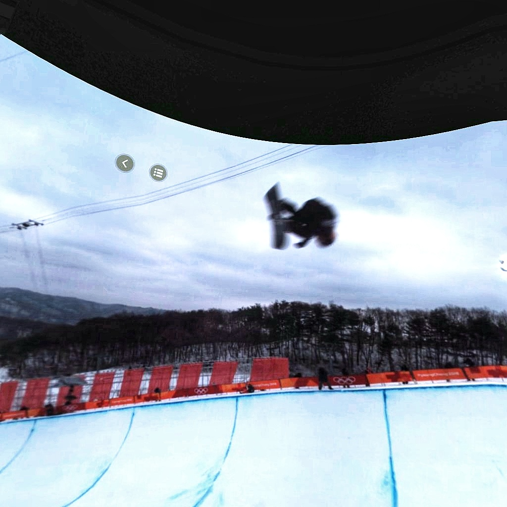 Intel True VR Olympics Snowboard halfpipe