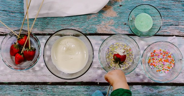 Learn how to create an Easter Dessert Tray by Baking with a Toddler with popular DC Mommy Blogger Baby Castan on Board