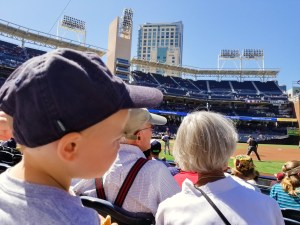 How to take a toddler to Petco Park by popular DC mommy blogger Baby Castan on Board