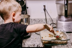 Cooking with a toddler by popular DC mommy blogger Baby Castan on Board