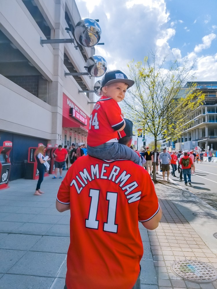 Stress Free Tips to Taking a Toddler to Visit the Washington Nationals Baseball Team