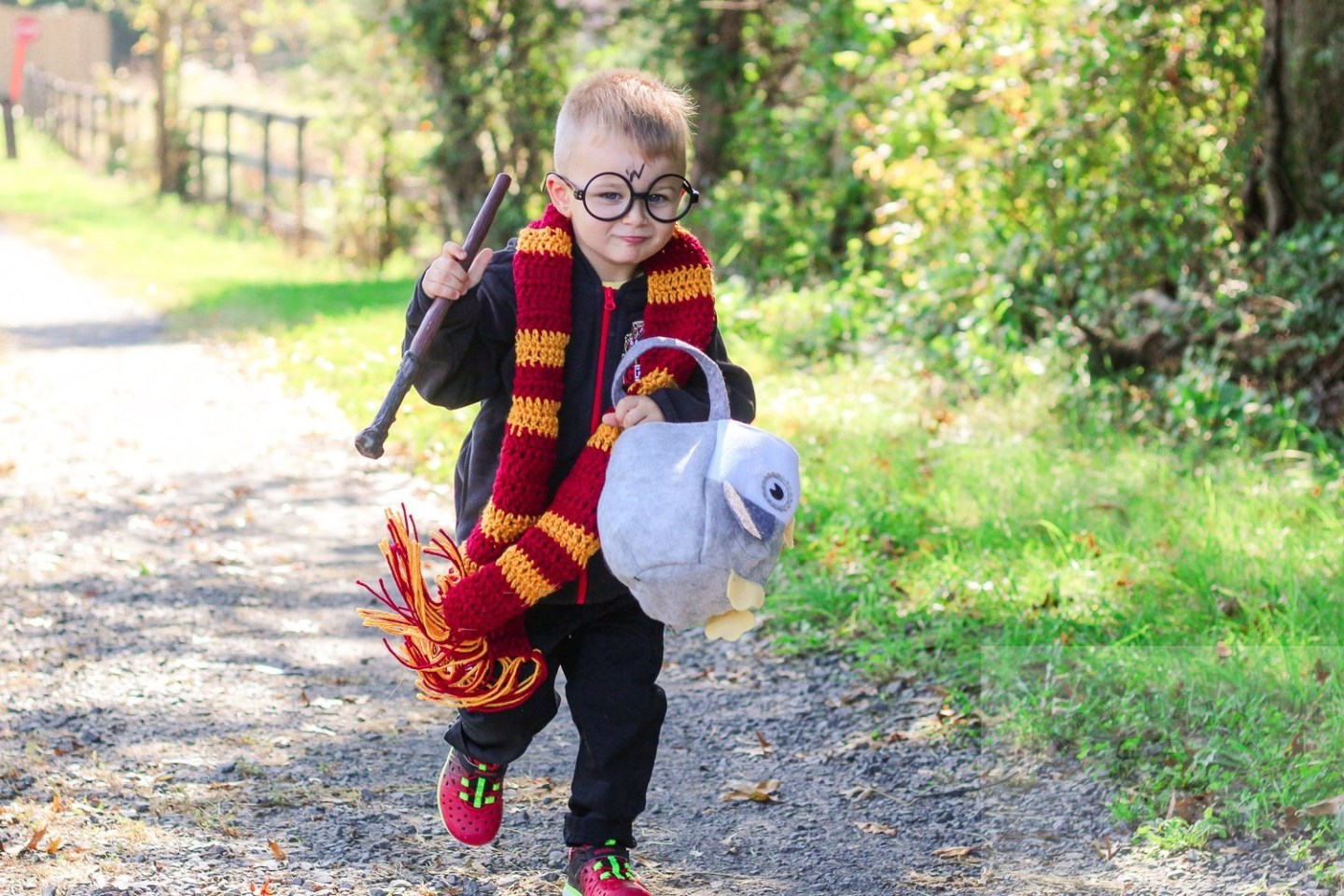 DIY Toddler Harry Potter Costume featured by top DC mommy blog, Baby Castan on Board