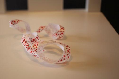 un ruban en plastique