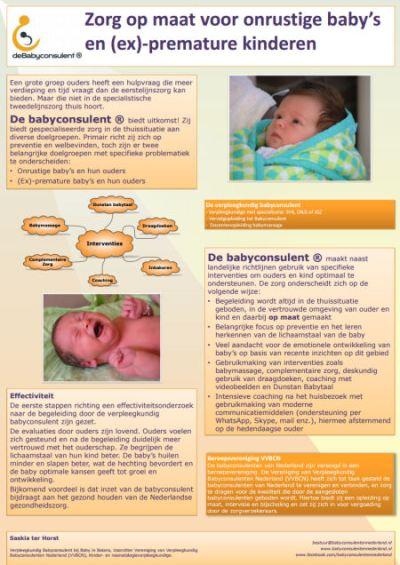 Presentatie poster babyconsulent op het symposium Zorg rond de pasgeborene 2015
