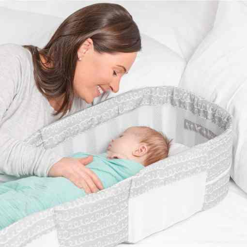 Snuggle Nest™ Dream Portable Infant Sleeper – Grey Scribbles