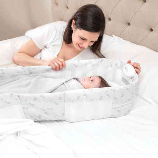 Snuggle Nest™ Harmony Portable Infant Sleeper – Floral Dreams