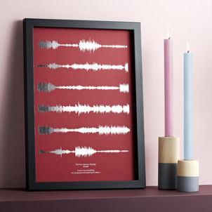 http://www.notonthehighstreet.com/houseofyve/product/metallic-personalised-favourite-song-sound-wave-print