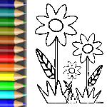 Ausmalbild Blumen Amp Kruter Der Blumenwiese BabyDuda
