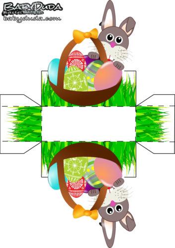 Osterkrbchen Vorlage Malen Amp Basteln BabyDuda