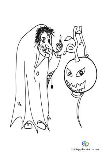 Halloween Amp Walpurgisnacht Ausmalbilder BabyDuda Malbuch