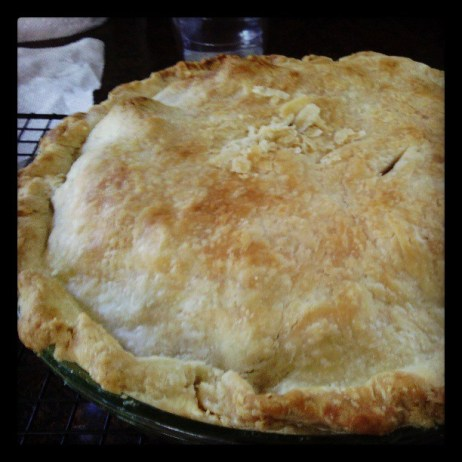 Homemade apple pie a la mom.