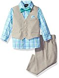 Nautica Baby Boys' Linen Look Vest Set, Light Tan, 6/9 Month