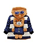 DDSOL Infant Baby Adorable Fleece Ears Hat Little Bear Hooded Jacket Coat