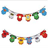 Cake Mania Superhero Baby Marvel Avengers Party Banner Decorations- Baby Shower, First Birthday Party,Nursery Decorations, DC Justice League