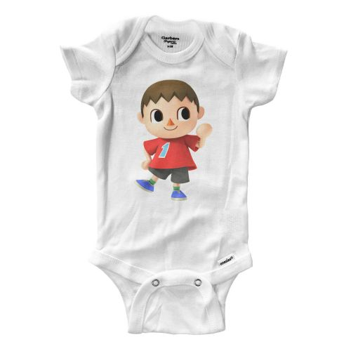 Animal Crossing Boy Villager Infant Gerber Onesies Bodysuit Baby boy girl Gift