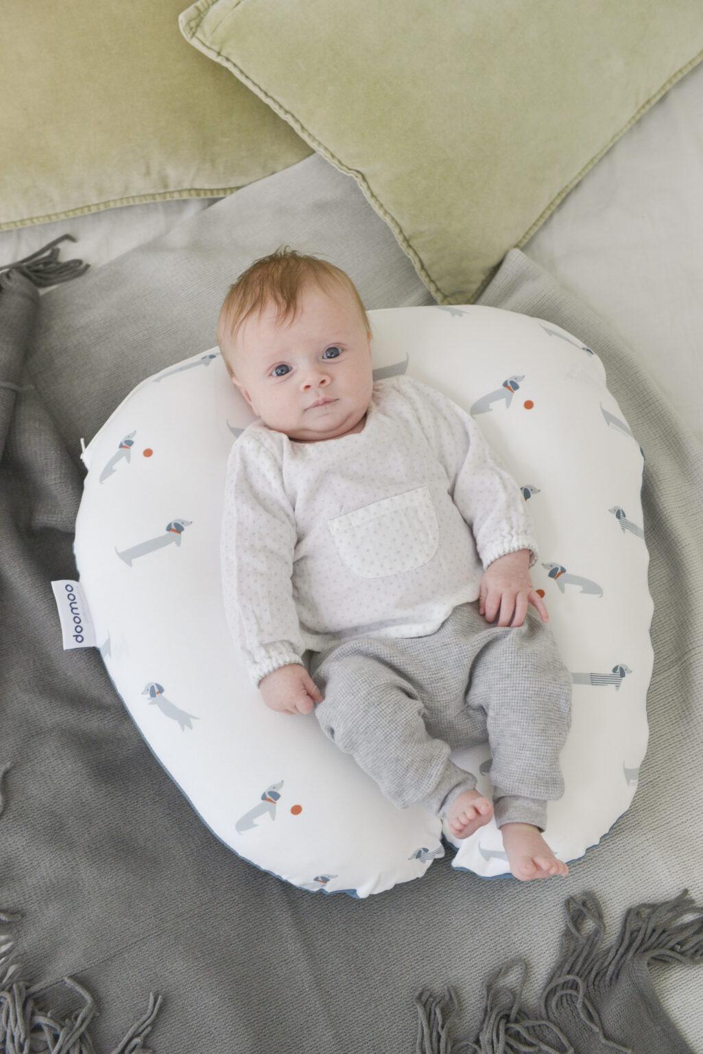 Coussin de maternité softy printed dog blue