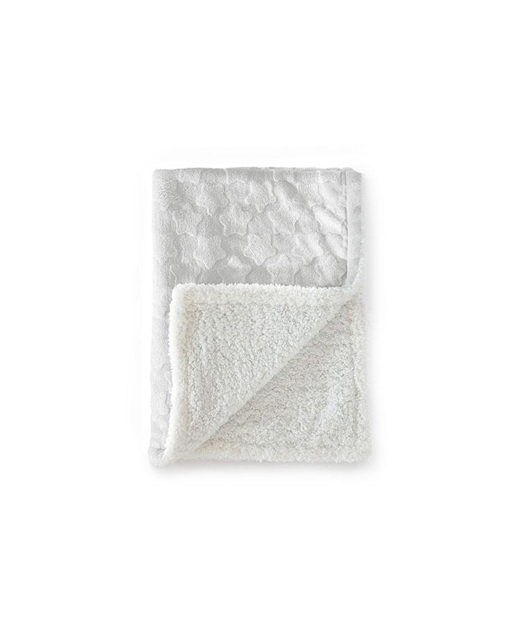 Couverture  Estrellas 100% polyester Blanc 110*140 cm