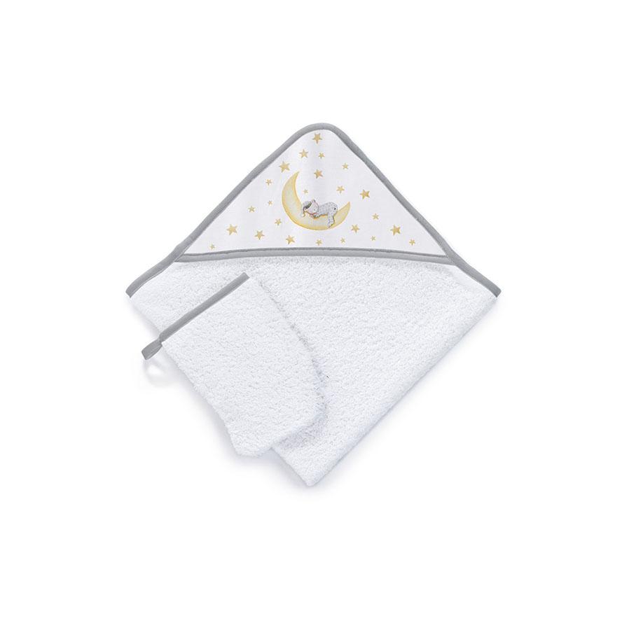Sortie de bain 100% Cotton Brodée Très Chic Marlon Night Gris