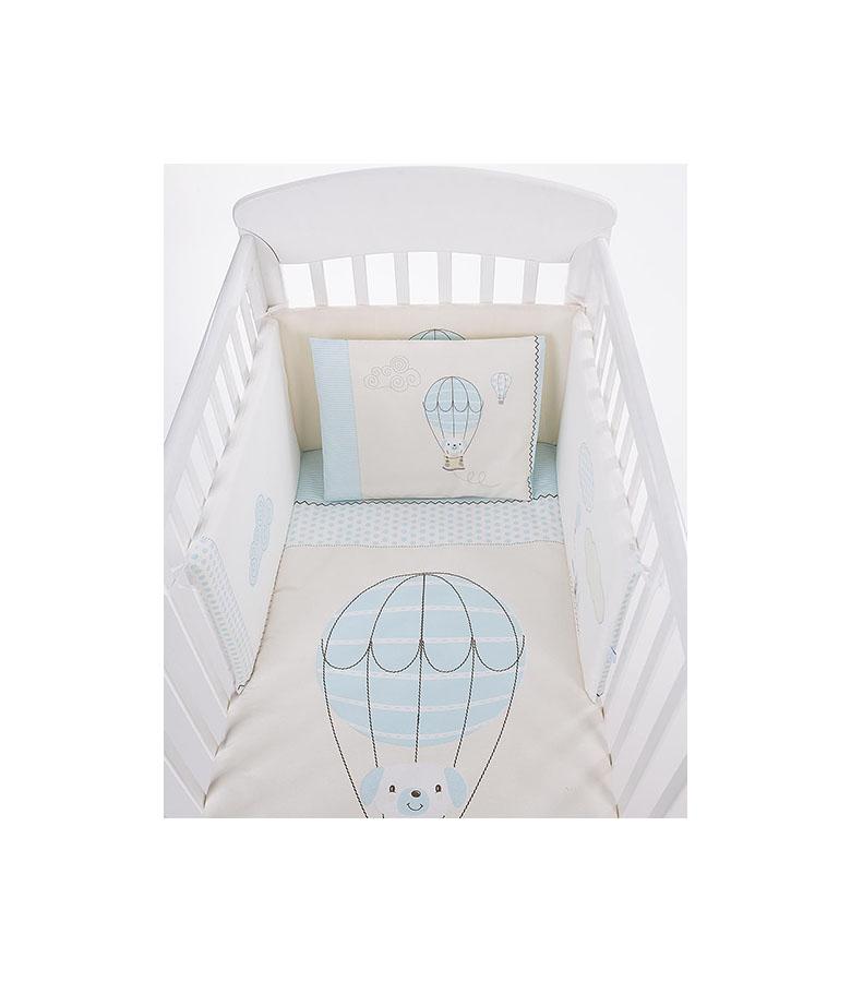 Parure de lit 6pcs 60/120 Chiot sur ballon