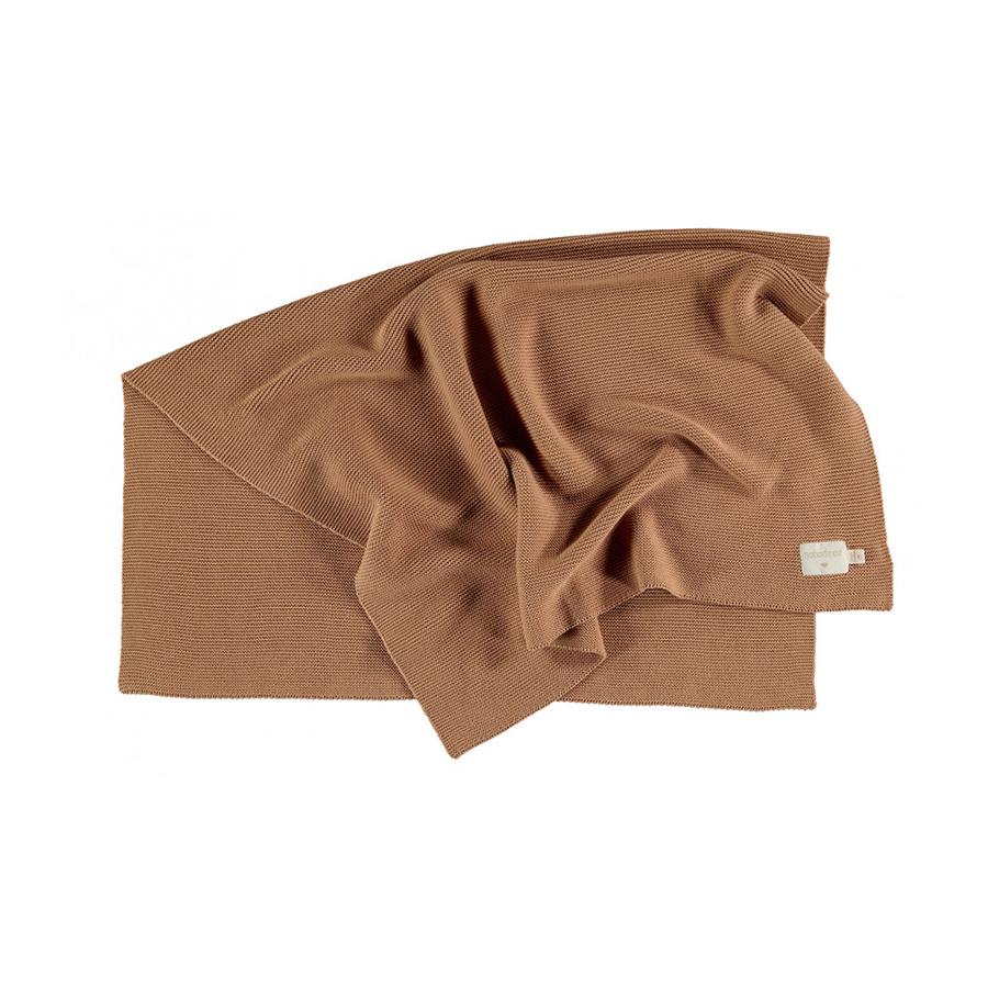 Couverture en tricot so natural – biscuit