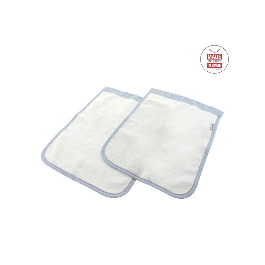 Coffret 2 serviettes de bain sky bleu/pluie 25×35 cm