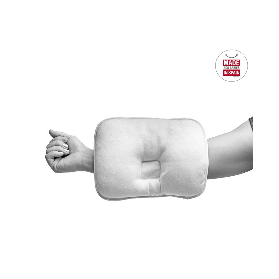 Coussin anti tête plate 25×20 cm liso blanc