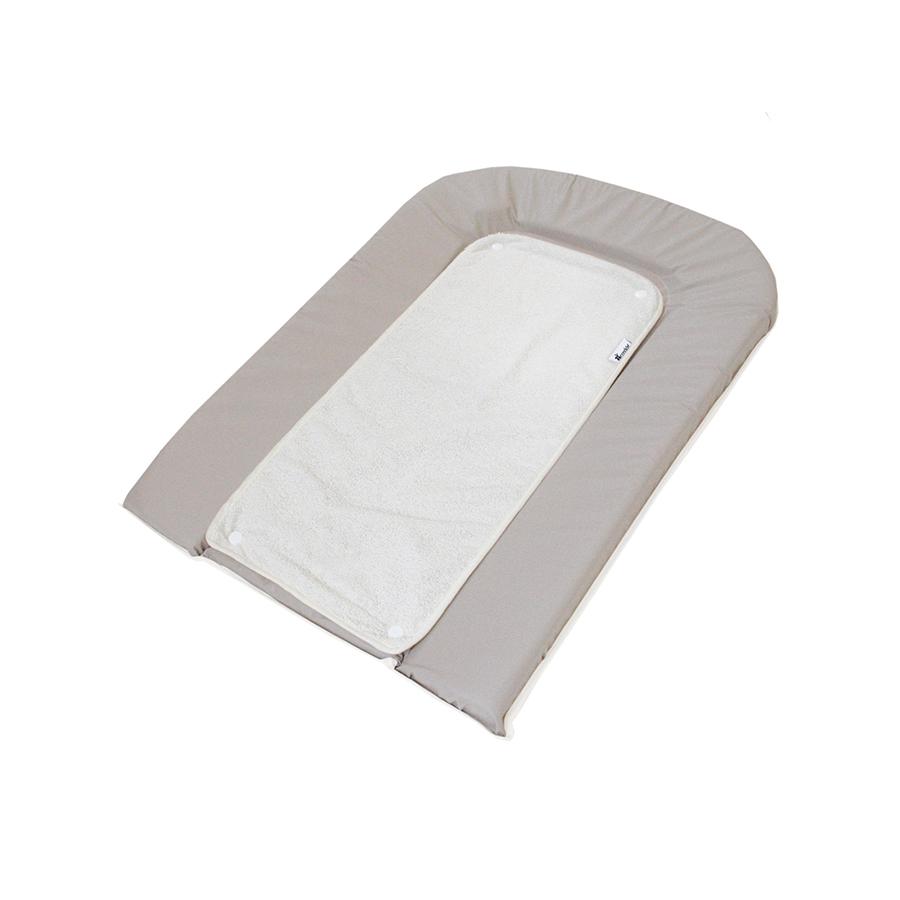 Matelas à langer PVC gris avec éponge pressionnée + 1 éponge