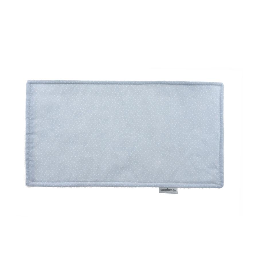 Petite serviette / bavette sky bleu/pluie 29.5×15.5 cm