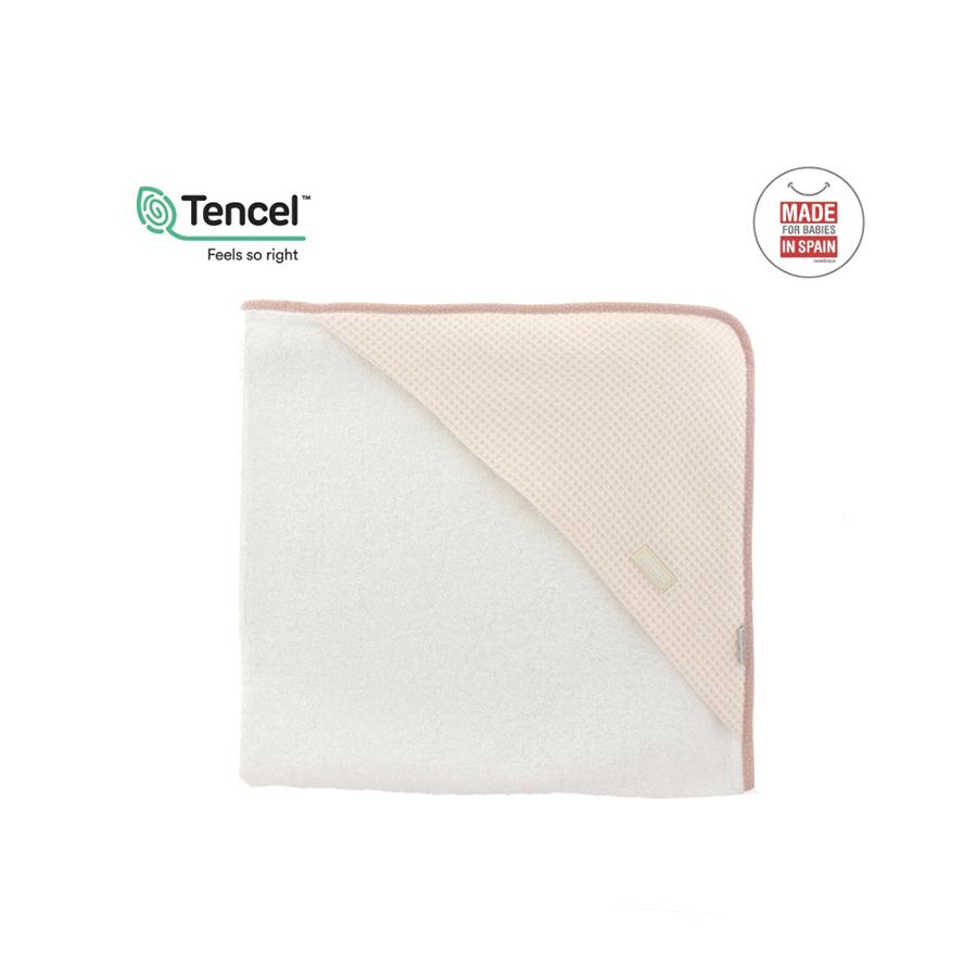 Serviette de bain à capuche 100×100 cm sky rose