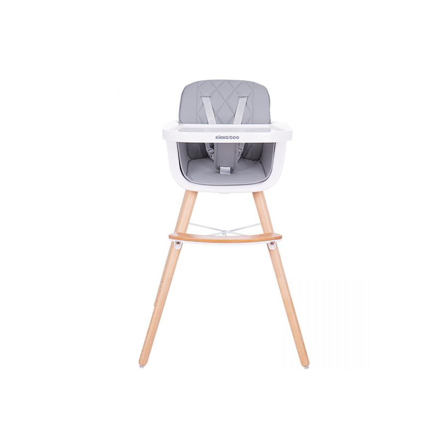 Chaise haute en bois Woody Gris