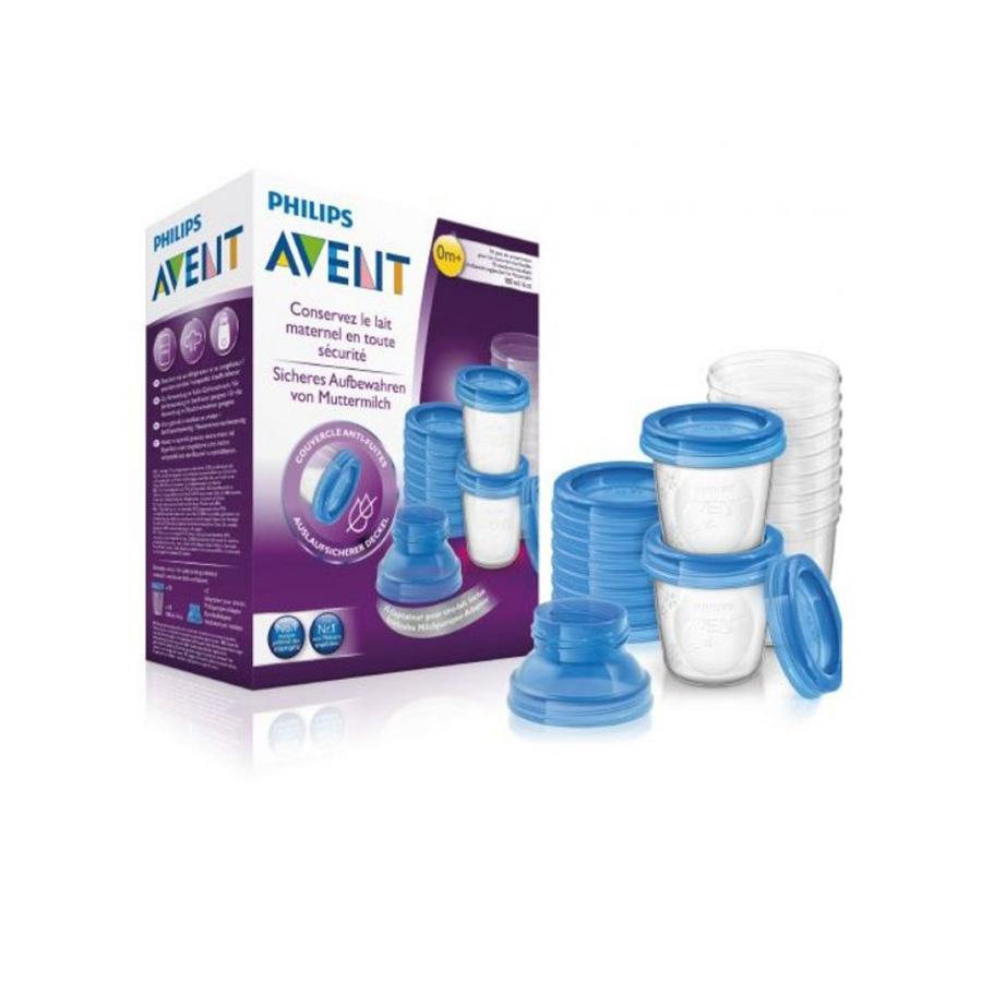Set pots de conservation pour lait maternel 180 ml/6oz