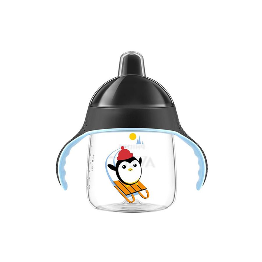 Tasse pingouin avec anses noires anti derapante 260 ml 12 mois+