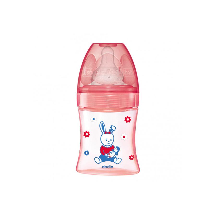 Biberon anti-colique initiation+ 0-6 mois rose poupée – 150 ml