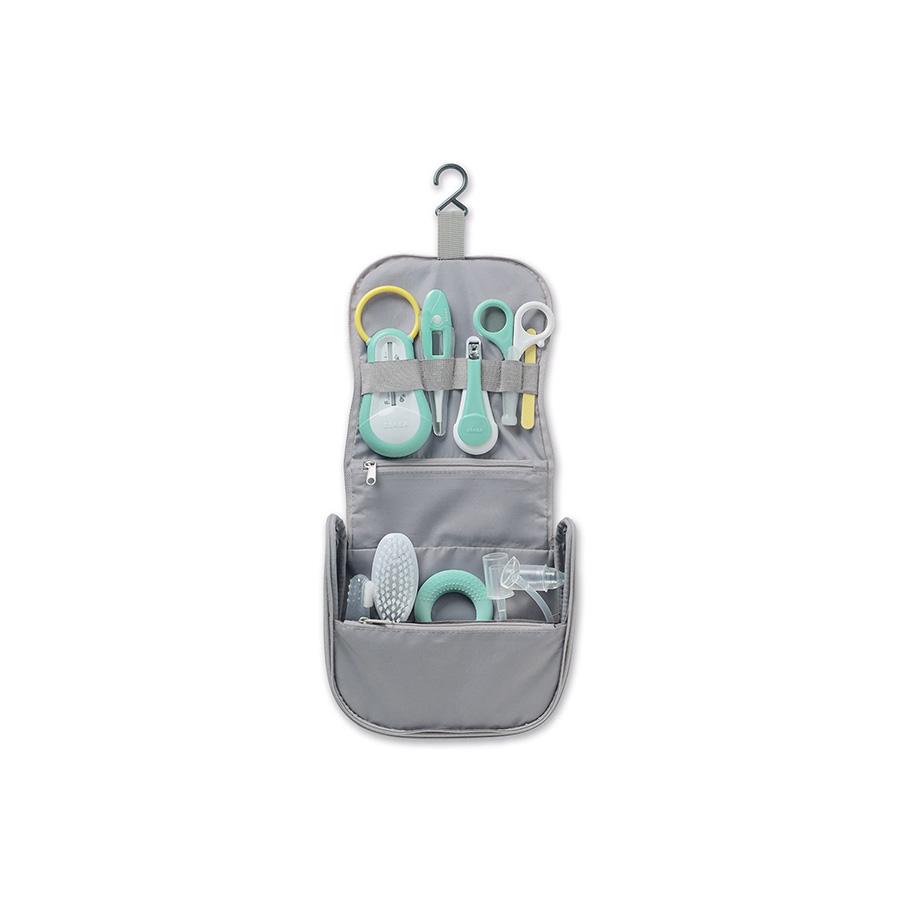 Trousse de toilette nomade grise 9 accessoires