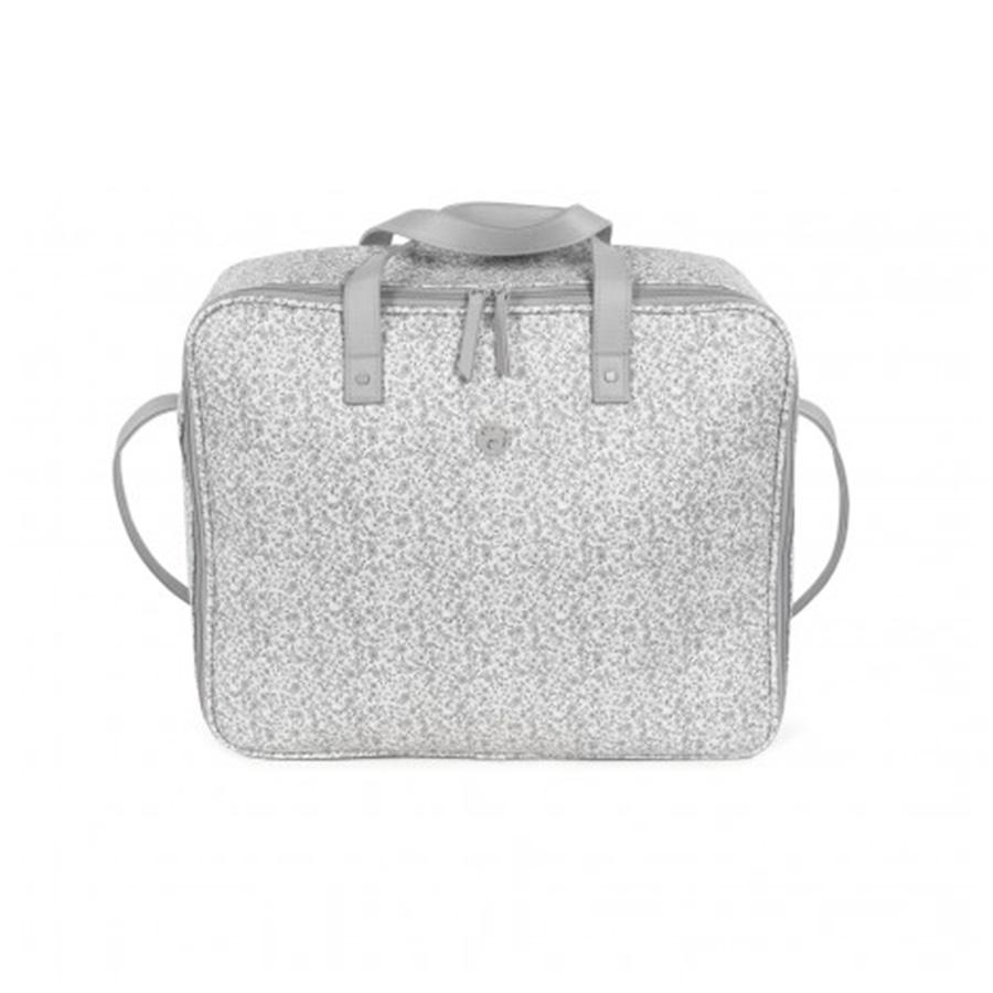 Valise de maternité flower mellow gris