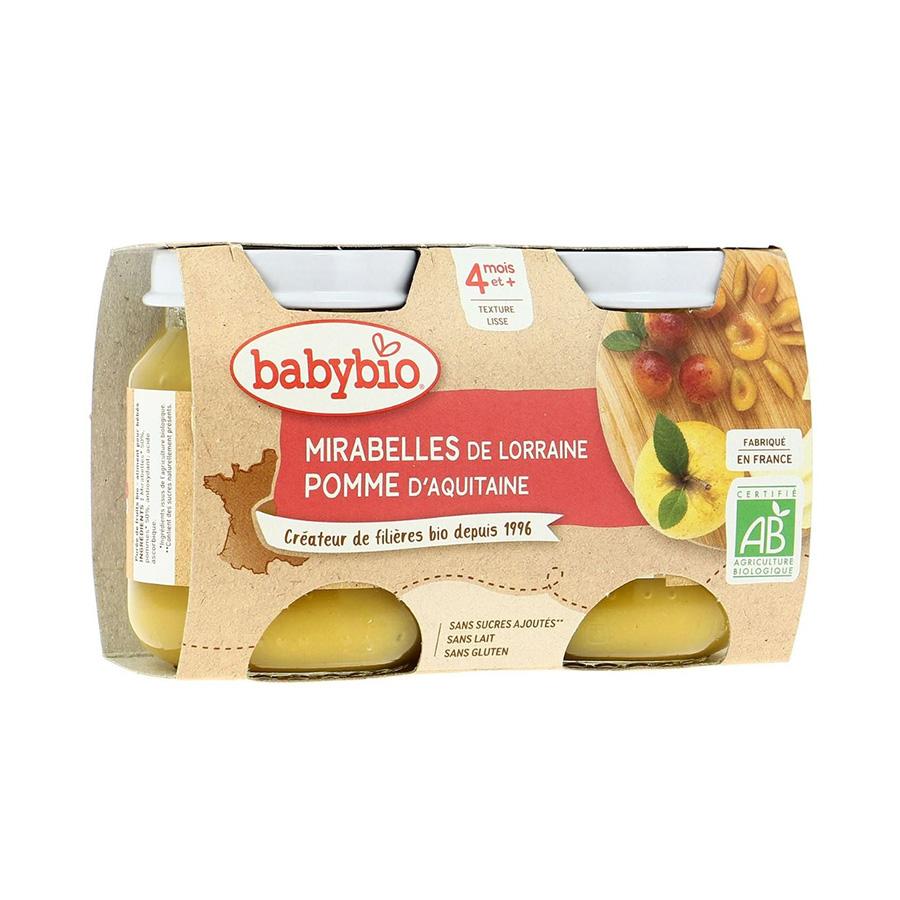 Babybio – Pot mirabelle pomme 2*130gr
