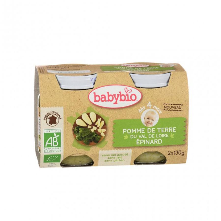 Babybio – Pot pomme de terre du Centre-Val de Loire Épinard 2*130gr