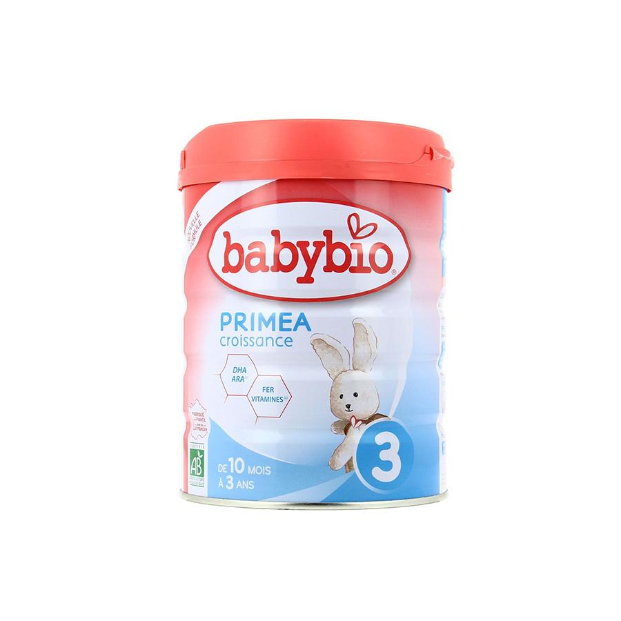 Babybio – Lait en poudre Primea 3 – 800G – (+10mois) – BIO